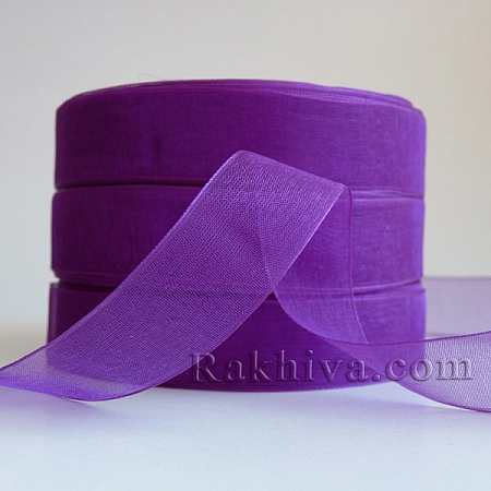 Organza ribbons Dark Purple, 1 roll d. purple (6mm/ 20 m) (6/20/2291)