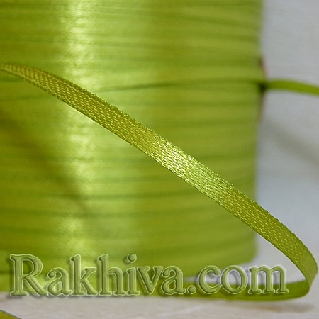 Satin ribbons - lime green, 3 mm/ 20 m 134/(3/20/2361)
