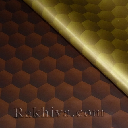 OPP wrapping paper (bicoloured), chocolate/gold (70/100/201432-200)