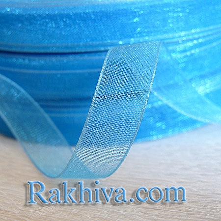 Organza ribbons , 1 roll lt. blue (6mm / 20 m) ( (6/20/2256)