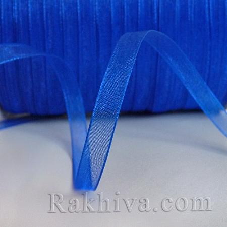 Organza ribbons, 1 roll dk. blue (6mm / 50 Y) (6/50/2255)