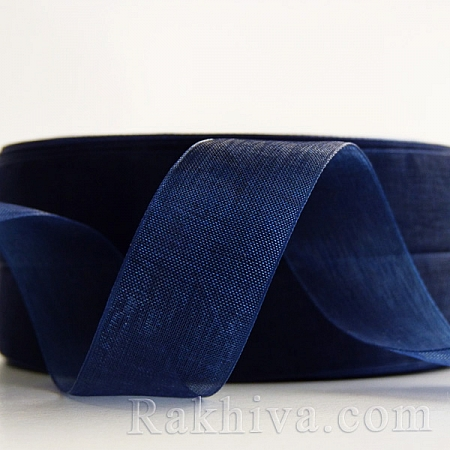 Woven ribbons, blue 20mm / 50Y (20/50/2254)