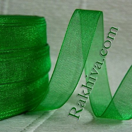 Woven ribbons Green, green (6 mm/ 20 m) (6/20/2265)