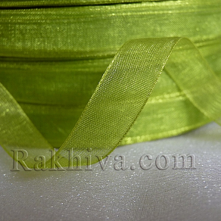Organza ribbons lime green, 1 roll lime green (10mm / 50Y) (10/50/2263)