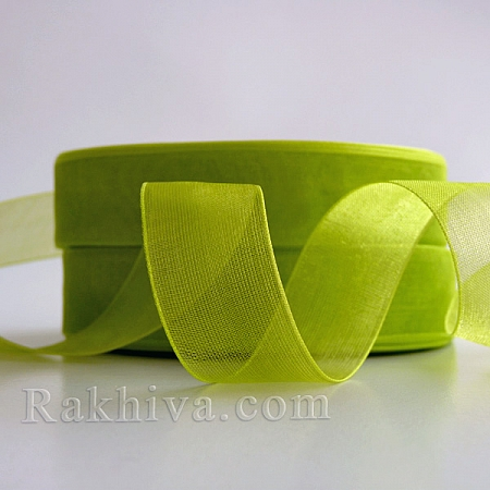 Organza ribbons Lime, lime green (2 cm/ 50Y)(20/50/2264)