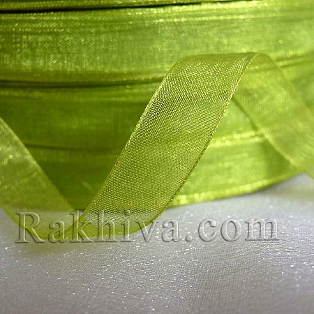 Organza ribbons, lime green (2 cm/ 50Y) (20/50/2263-1)
