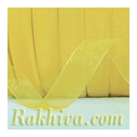 Organza ribbons Yellow, yellow (6 mm/20 m ) (6/20/2270)
