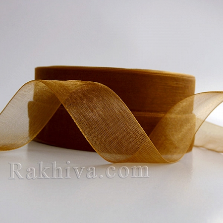 Organza ribbons Gold, 1 roll (1mm/ 20m) (10/20/22200)