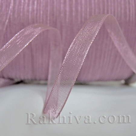 Organza ribbons ash of roses, 1 roll (6 mm/ 20 m) (6/20/2249)