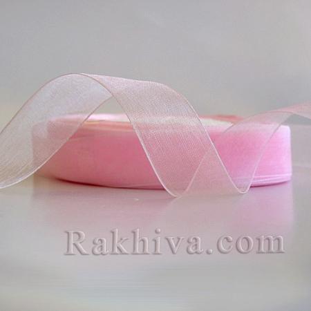 Organza ribbons, 1 roll (2 cm/ 50Y) pearl pink (20/50/2240-1)