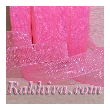 Woven ribbons, pink (6mm/ 20 m) (6/20/2241)