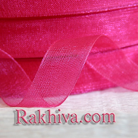Organza ribbons, hot pink (10 mm / 50Y)  (10/50/2245-1)