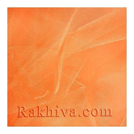 Crystal tulle peach, peach 1m (3 m2) (85/48)