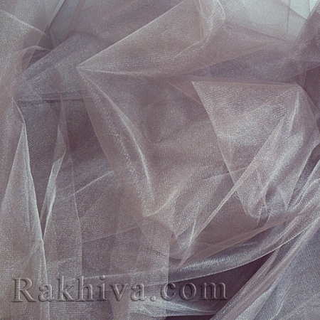 Crystal tulle - antique gray, antique gray 1 m (3 m2) 85/21