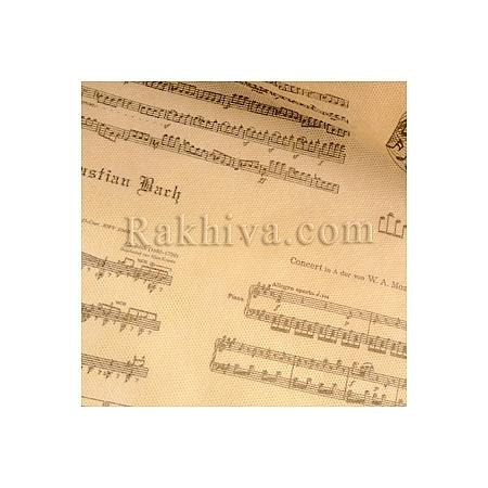 Non Woven paper, music ecru (18m) (60/18/64012)