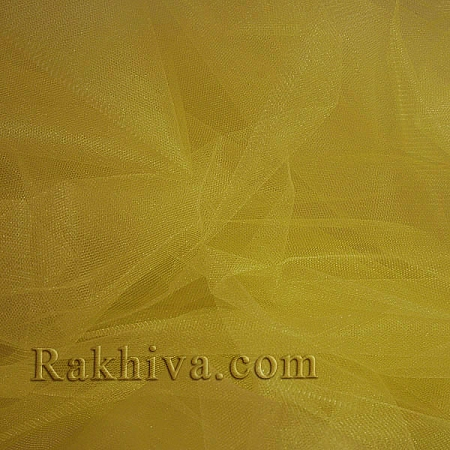 Crystal tulle yellow, yellow 1m (3 m2) 85/70