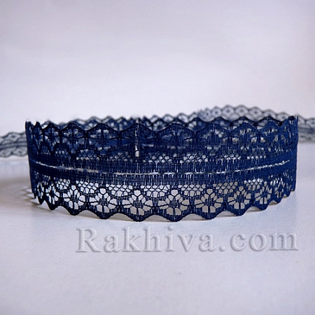 Lace Rome, 30mm/9m dark blue (30/10/1658-2/55)