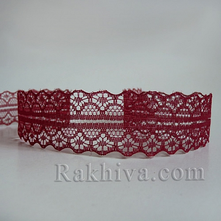 Lace Rome, 30mm/9m, dark red (30/10/1658-2/82)