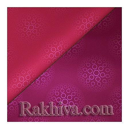 OPP wrapping paper (Double), plum/ pink (70/100/91199-40)