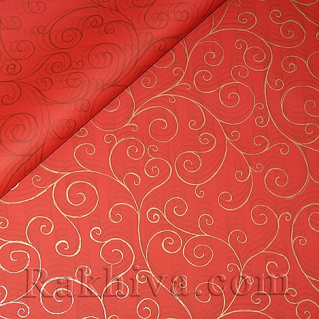 OPP wrapping paper (bicoloured), red/ gold (70/100/17180-200 )