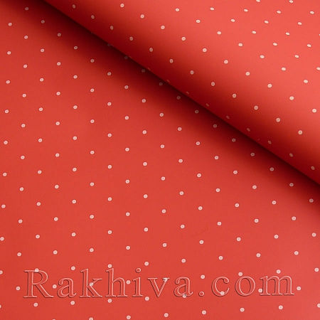 OPP wrapping paper (bicoloured), red/ white  (70/100/151180-10)