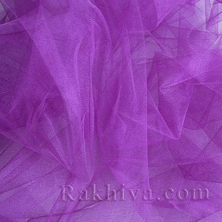 Crystal tulle purple, purple 1m (3 m2) 85/90