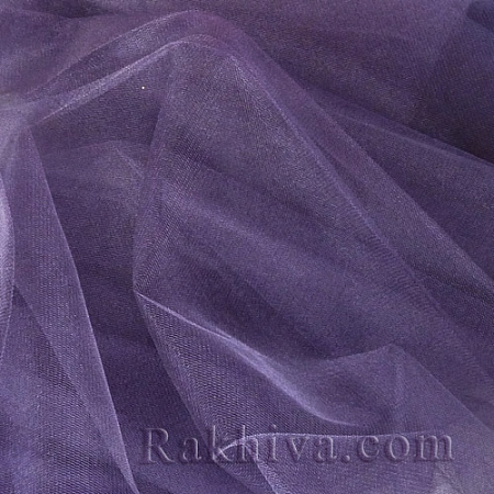 Crystal tulle dark purple, dark purple 1m (3 m2) 85/92