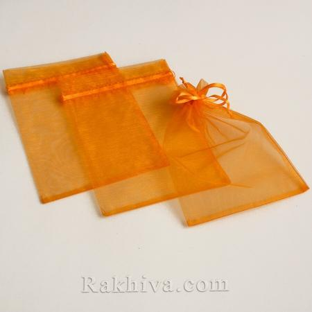 Organza bags orange, 7 cm/ 9 cm, (7/9/8275)