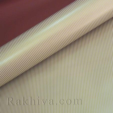 OPP wrapping paper (bicoloured), burgundy/ gold (70/100/51186-200)