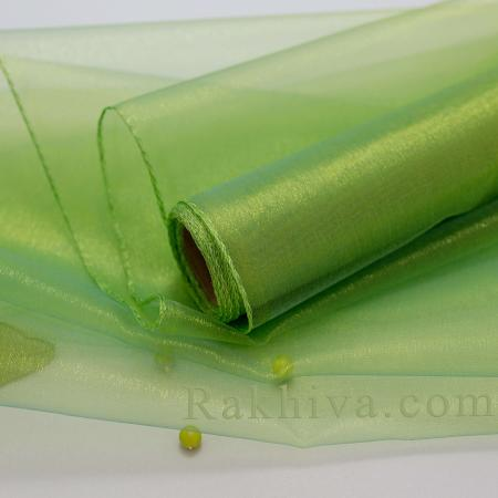 Organza ribbons Lime green, 47 cm/ 10 Y,  (36/10/3661)