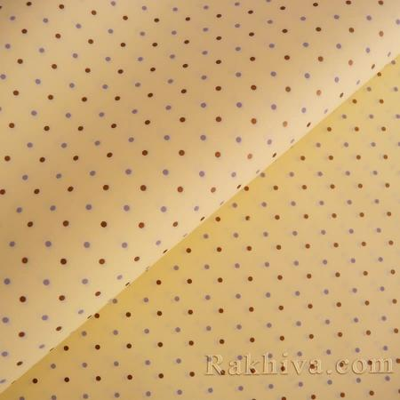OPP wrapping paper (bicoloured), ecru/ gold (70/100/151112)