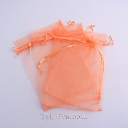Organza bags peach, 12 cm / 17 cm, (12/17/8248)