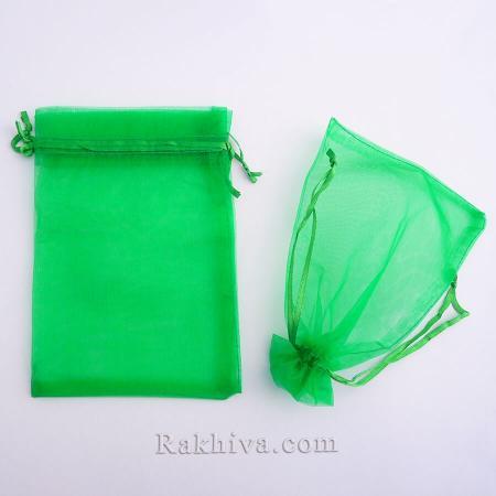 Organza bags grassy green, 10 cm/ 12 cm, (10/12/8265)
