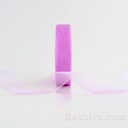 Organza ribbons, 1 roll (20 mm/ 50Y)  pink - purple (20/50/2240-90 )