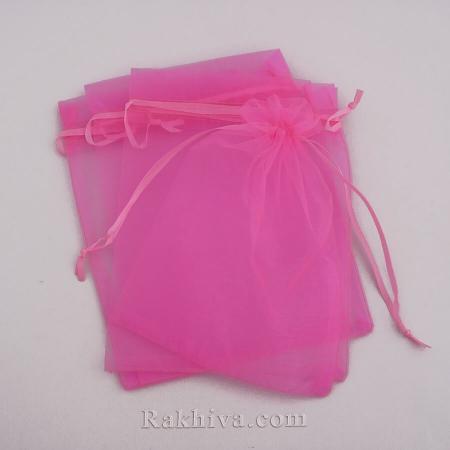Organza bags pink , 5 cm/7 cm, (5/75/8245-1)