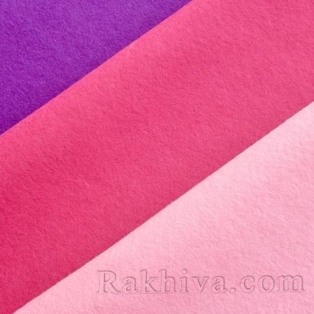 Soft felt, 8m/100 сm pink (80/100/613) - Soft felt
