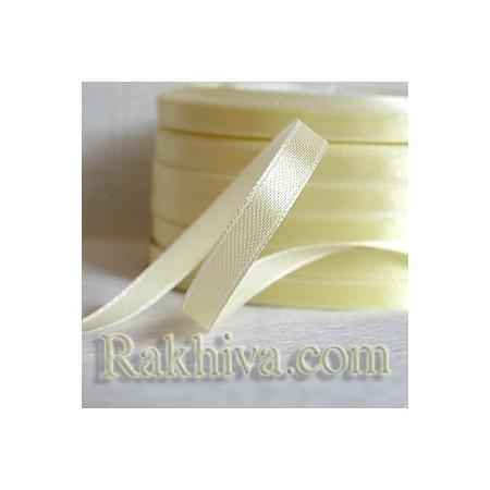 Satin ribbons - cream, 1 roll 6 mm/ 25 Y, (6/25/2312-5)