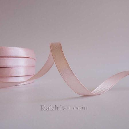 Satin ribbons - light blush, 1 roll 10 mm/ 25 Y (10/25/2333-1)