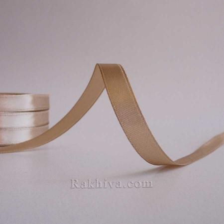 Satin ribbons - latte coffee, 1 roll 10 mm/ 25 Y (10/25/2336-1)