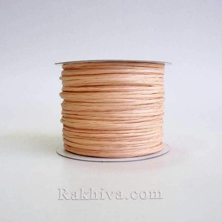 Paper rope (wired), lt. peach (2/50/6148-1) (roll 50 m)